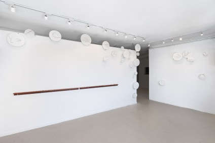 Untitled (residuum) and Untitled (sample), installation view, dimensions variable, 2014