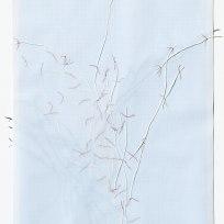 Untitled (form), panel 8, silk paper, graph paper, drafting film, cotton-rag paper, cotton thread, 59.5cm x 42cm, 2014