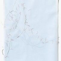 Untitled (form), panel 1, silk paper, graph paper, drafting film, cotton-rag paper, cotton thread, 59.5cm x 42cm, 2014