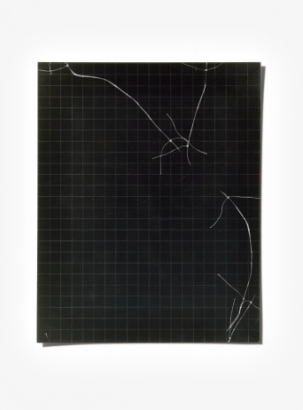 Untitled (written with light), panel 9, photogram on resin-coated paper, 25.4cm x 20.3cm, 2014