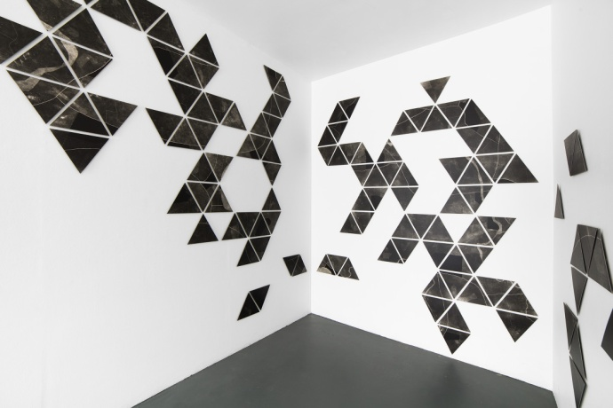 Charting, photograms on fibre based photographic paper, installation view 3, dimensions variable, 2019