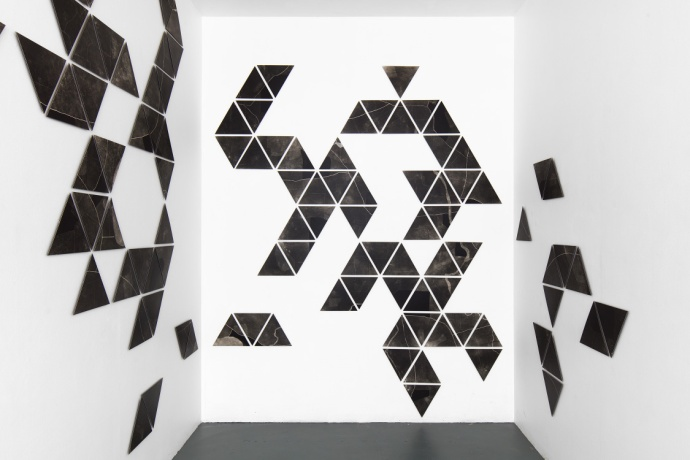 Charting, photograms on fibre based photographic paper, installation view 4, dimensions variable, 2019