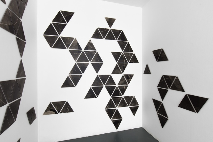 Charting, photograms on fibre based photographic paper, installation view 5, dimensions variable, 2019
